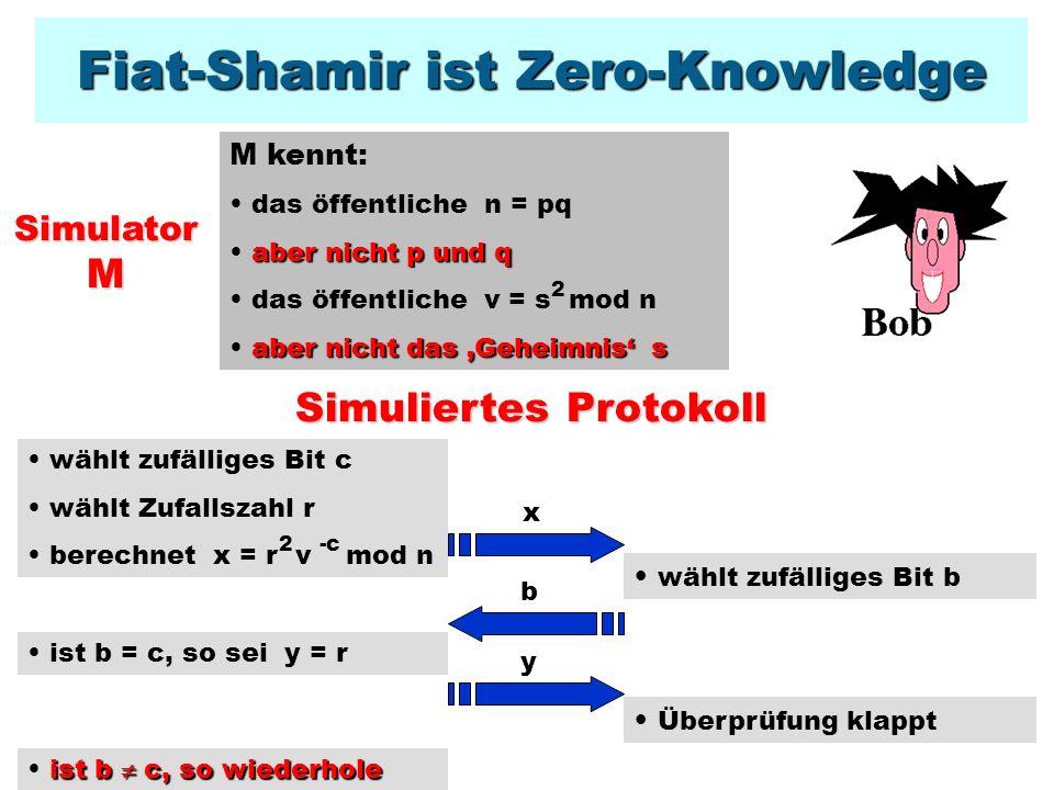 Praxis: Mit dem Fiat-Shamir-Protokoll werden heute Pay-TV-Programme decodiert.Mit dem Fiat-Shamir-Protokoll werden heute Pay-TV-Programme decodiert.