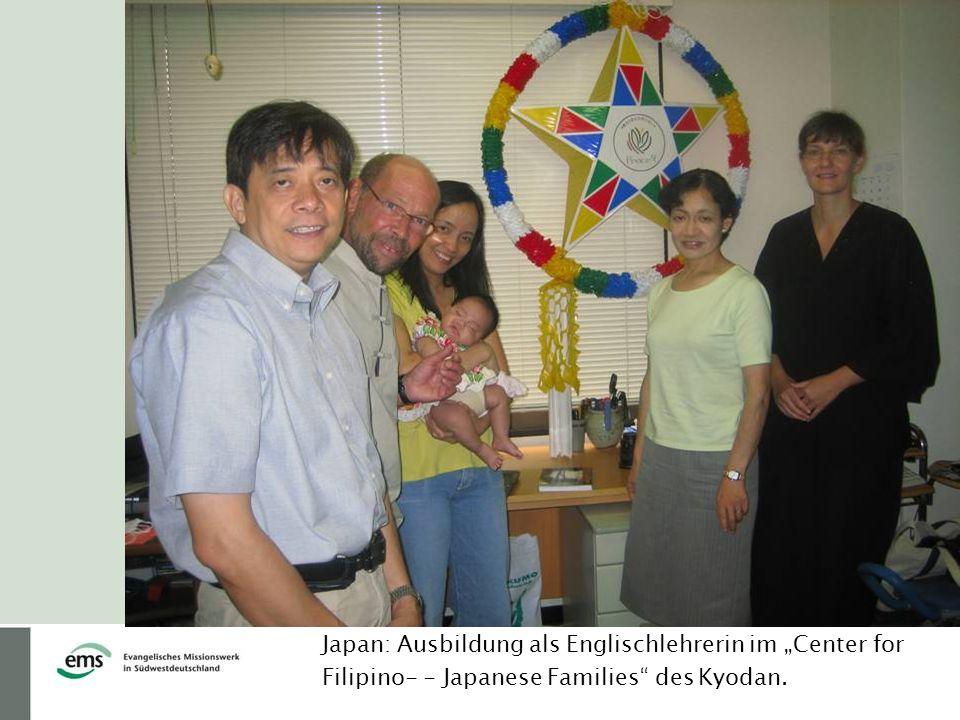 Japan: Ausbildung als Englischlehrerin im Center for Filipino- - Japanese Families des Kyodan.