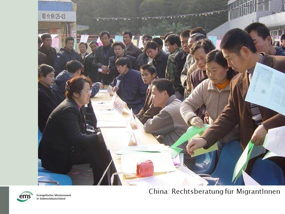 China: Rechtsberatung für MigrantInnen