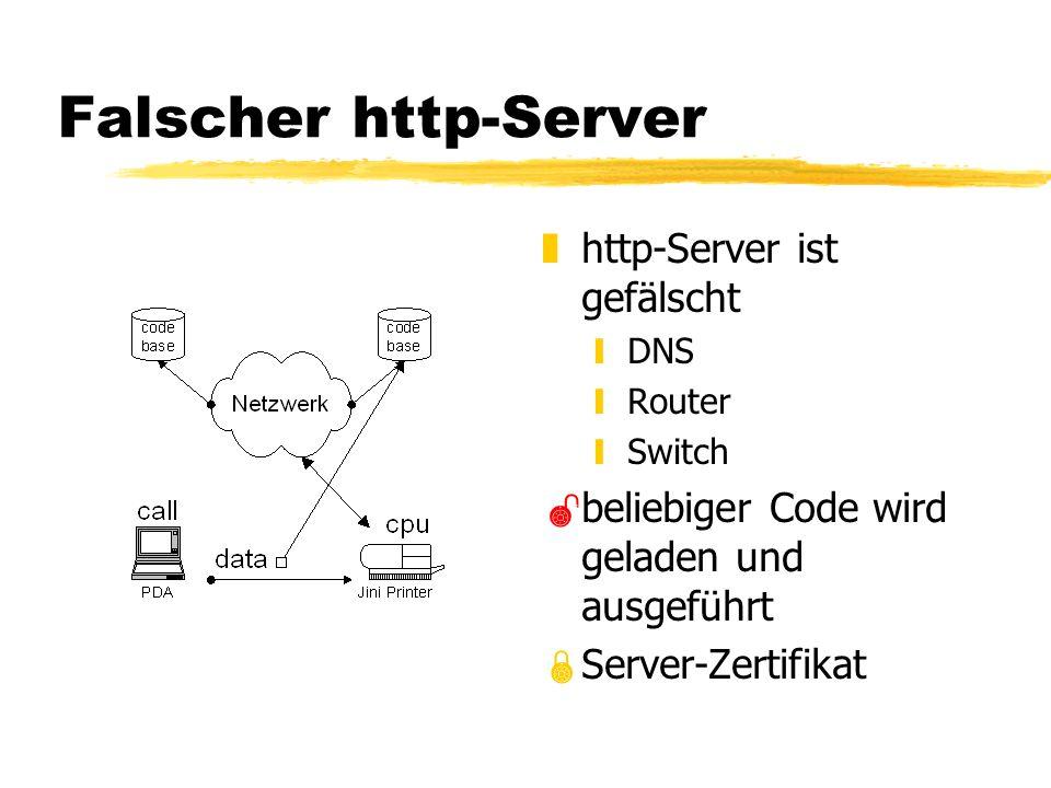 Falscher http-Server z http-Server ist gefälscht yDNS yRouter ySwitch beliebiger Code wird geladen und ausgeführt Server-Zertifikat