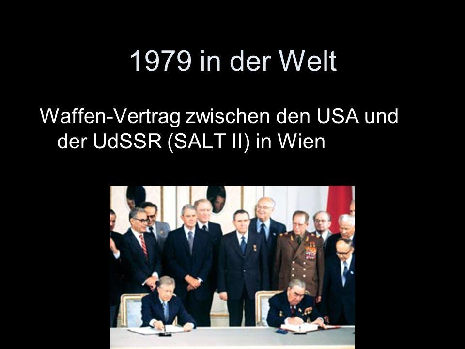 1979 in der Welt Waffen-Vertrag zwischen den USA und der UdSSR (SALT II) in Wien
