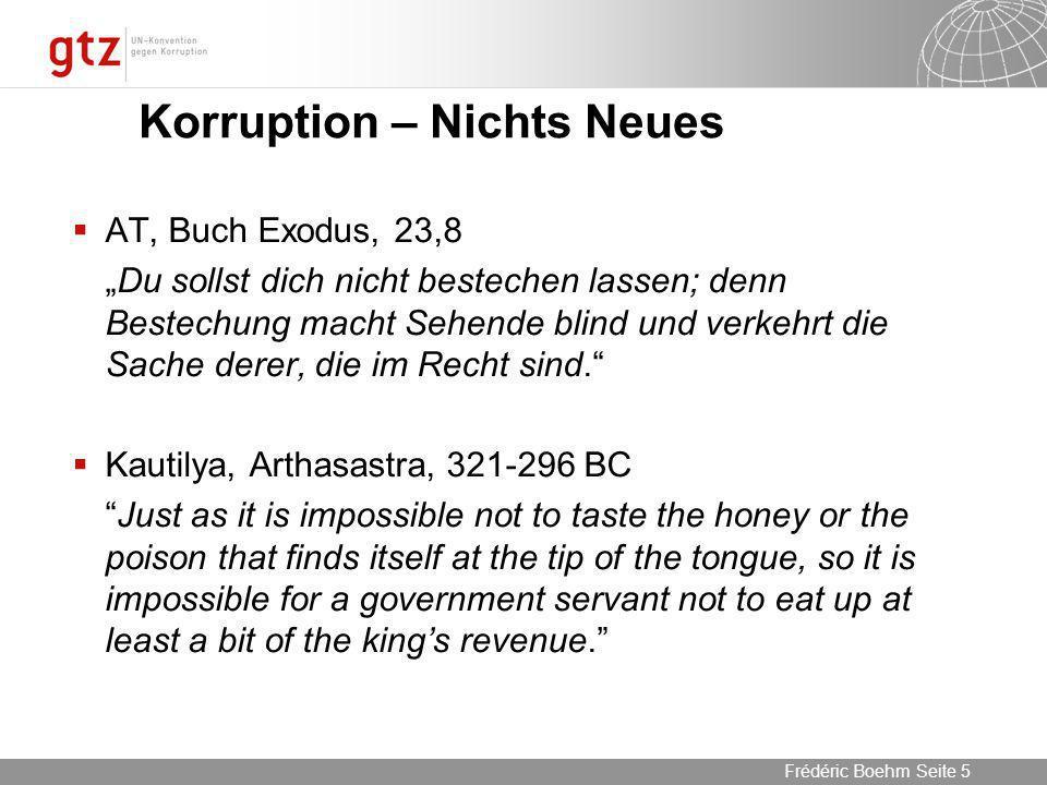 05.04.2014 Seite 16 Seite 16Frédéric Boehm Informeller Sektor und Korruption Informal Economy as % of BIP Weak controlControl of CorruptionGood control