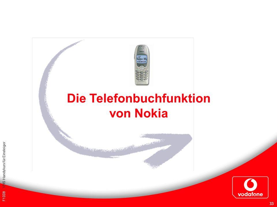 F1008 VHS Handykurs für Einsteiger 33 Die Telefonbuchfunktion von Nokia