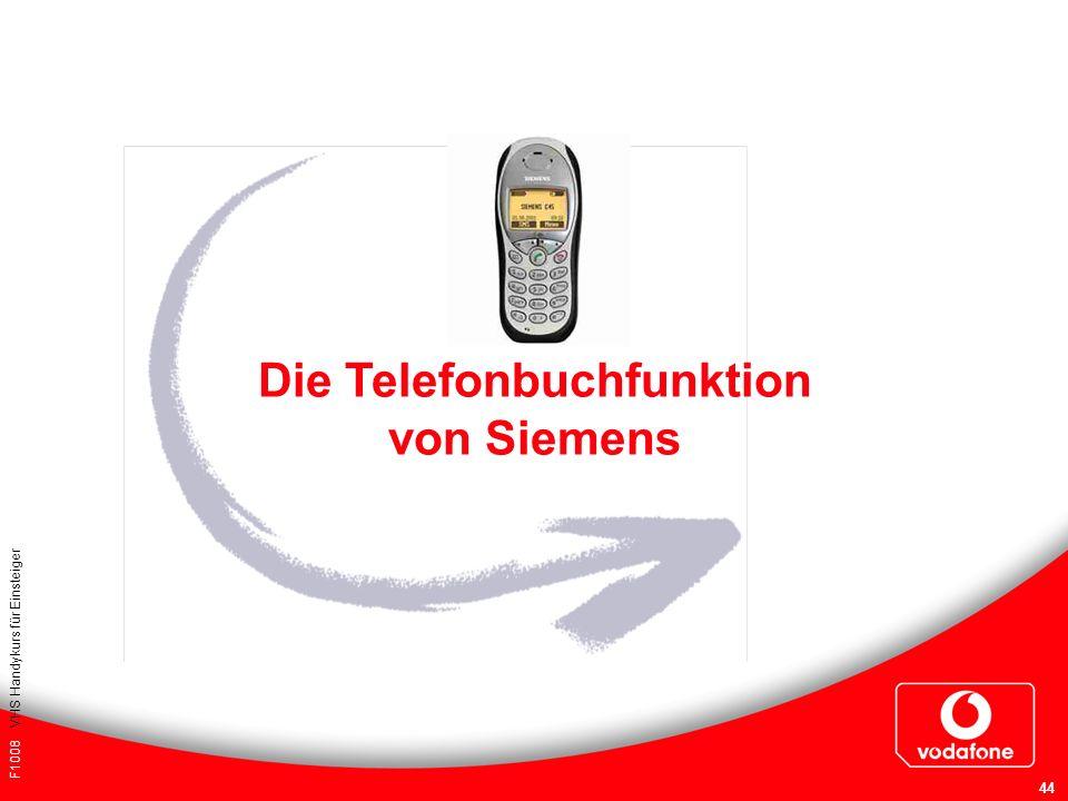 F1008 VHS Handykurs für Einsteiger 44 Die Telefonbuchfunktion von Siemens