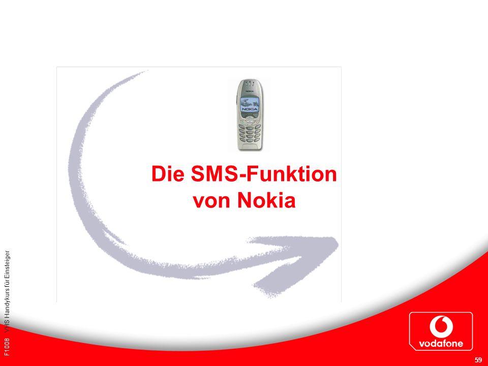 F1008 VHS Handykurs für Einsteiger 59 Die SMS-Funktion von Nokia