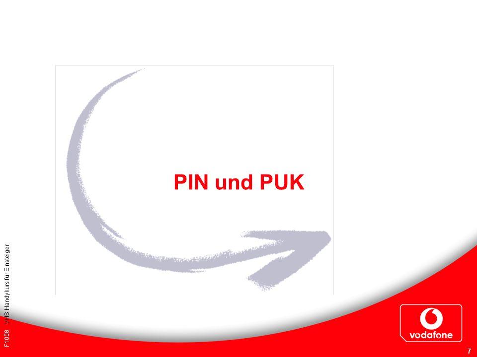 F1008 VHS Handykurs für Einsteiger 7 PIN und PUK