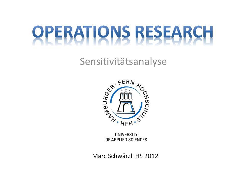Sensitivitätsanalyse Marc Schwärzli HS 2012