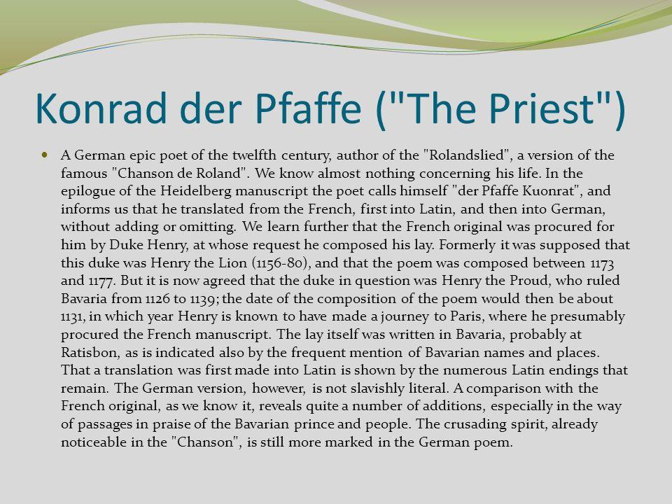 Cod.Pal. germ. 112 Pfaffe Konrad, Rolandslied, Regensburg Hessen-Thüringen, Ende 12.