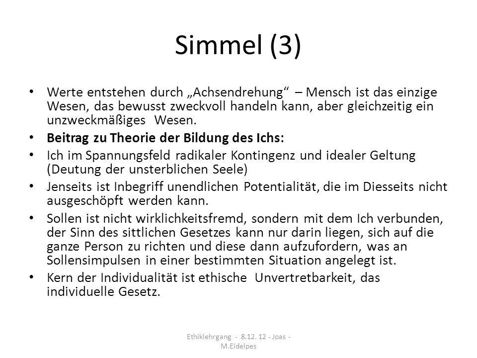 Max Scheler – Das Wertgefühl und sein Gegenstand* Intention: Wiedergewinnung bzw.