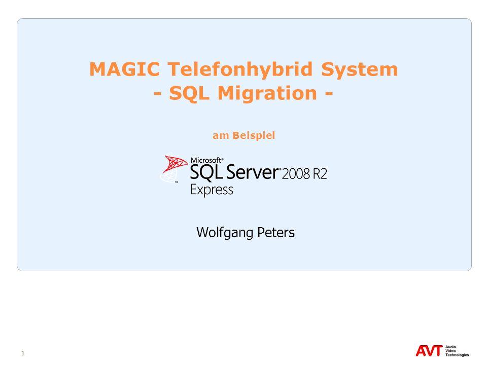 32 SQL Server Migration Assistent for Access Eine bestehende caller.mdb Datenbank kann mit dem sogenannten SQL Server Migration Assistent for Access (SSMA) auf den SQL Server migriert werden Eine SQL-konforme Umsetzung der Access-Datenbank ist bereits unter Update der Datenbank-Tabellen durchgeführt wordenUpdate der Datenbank-Tabellen Wenn noch keine caller.mdb existiert, muss für die Migration die im DVD-Verzeichnis \Software\SQL Tools\SSMA for Access befindliche Datenbank callerSQLDemo.mdb verwendet werden