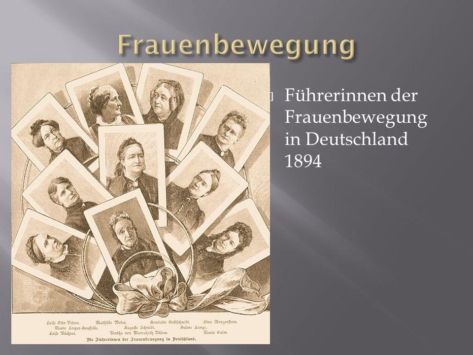 Die erste Welle der Frauenbewegung oder Frauenrechtsbewegung kämpfte für die grundsätzlichen politischen und bürgerlichen Rechte der Frauen.