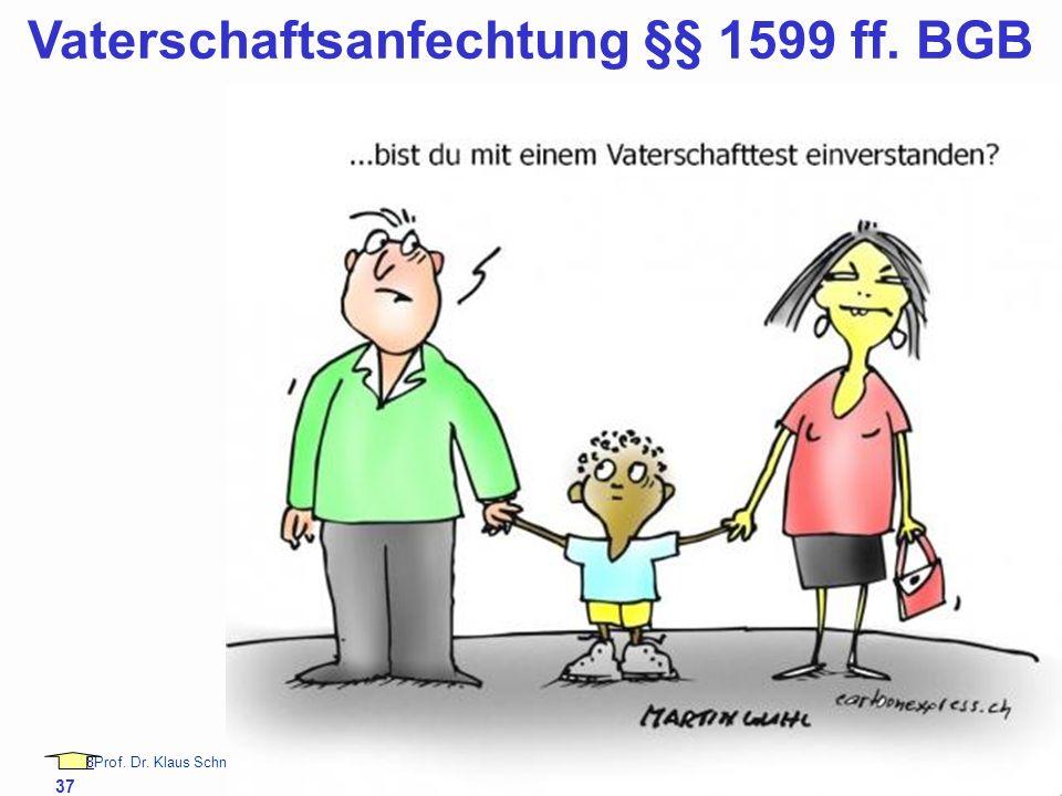 88Prof. Dr. Klaus Schneider-Danwitz BGB SGB_8 FGG ZPOBGBSGB_8FGGZPO 37 Vaterschaftsanfechtung §§ 1599 ff. BGB