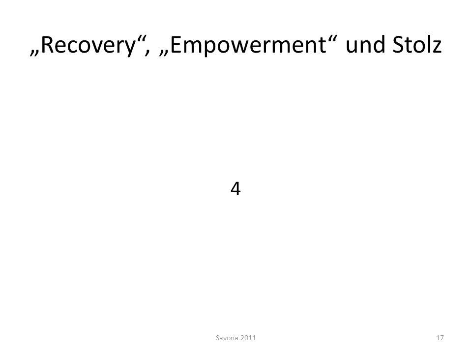 Recovery, Empowerment und Stolz 4 Savona 201117