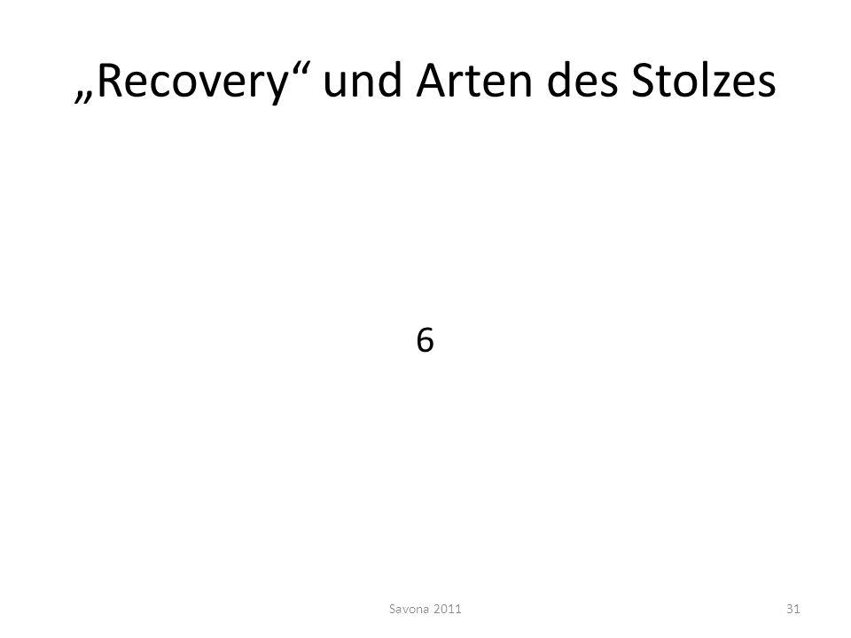 Recovery und Arten des Stolzes 6 Savona 201131