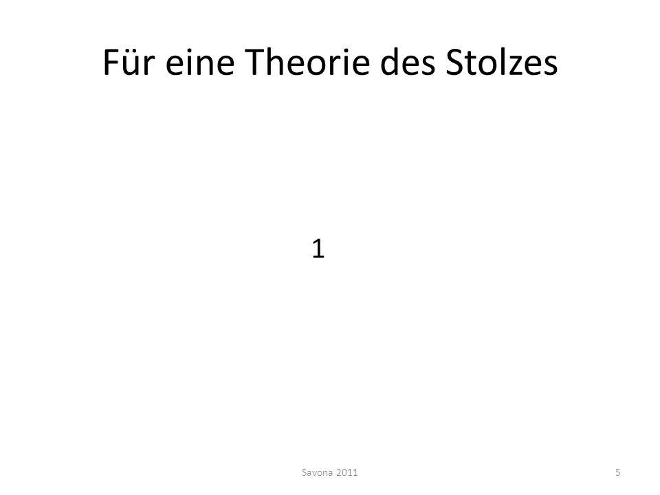 Für eine Theorie des Stolzes 1 Savona 20115