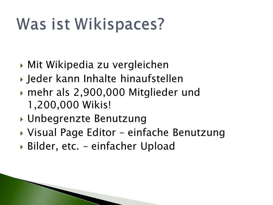 Mit Wikipedia zu vergleichen Jeder kann Inhalte hinaufstellen mehr als 2,900,000 Mitglieder und 1,200,000 Wikis! Unbegrenzte Benutzung Visual Page Edi
