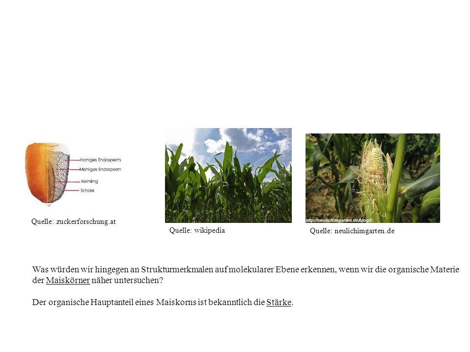 Quelle: wikipedia Quelle: neulichimgarten.de Was würden wir hingegen an Strukturmerkmalen auf molekularer Ebene erkennen, wenn wir die organische Mate