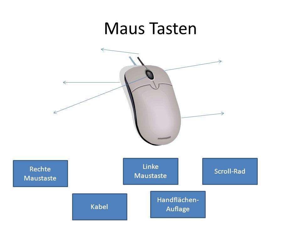 Maus Tasten Rechte Maustaste Linke Maustaste Scroll-Rad Handflächen- Auflage Kabel