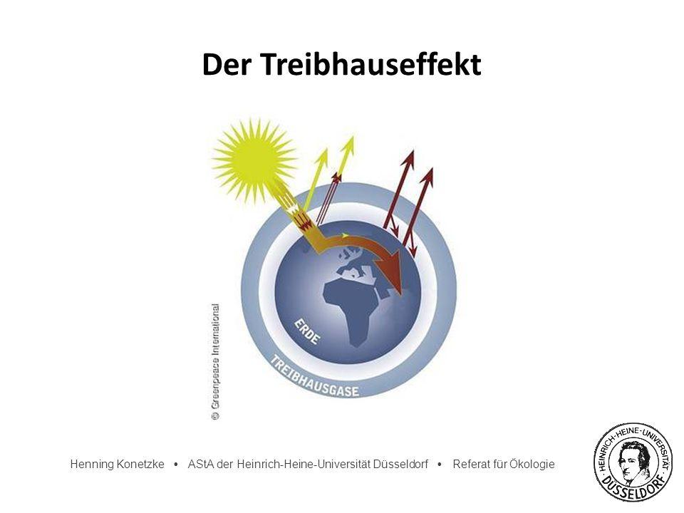 Henning Konetzke AStA der Heinrich-Heine-Universität Düsseldorf Referat für Ökologie Weltklimarat (IPCC) 1988 gegründetes Expertengremium 2.000 Wissenschaftler weltweit Analyse und Prognose des Klimawandels Erarbeitung von Anpassungs- und Vermeidungsmöglichkeiten regelmäßige Publikation umfassender Studien
