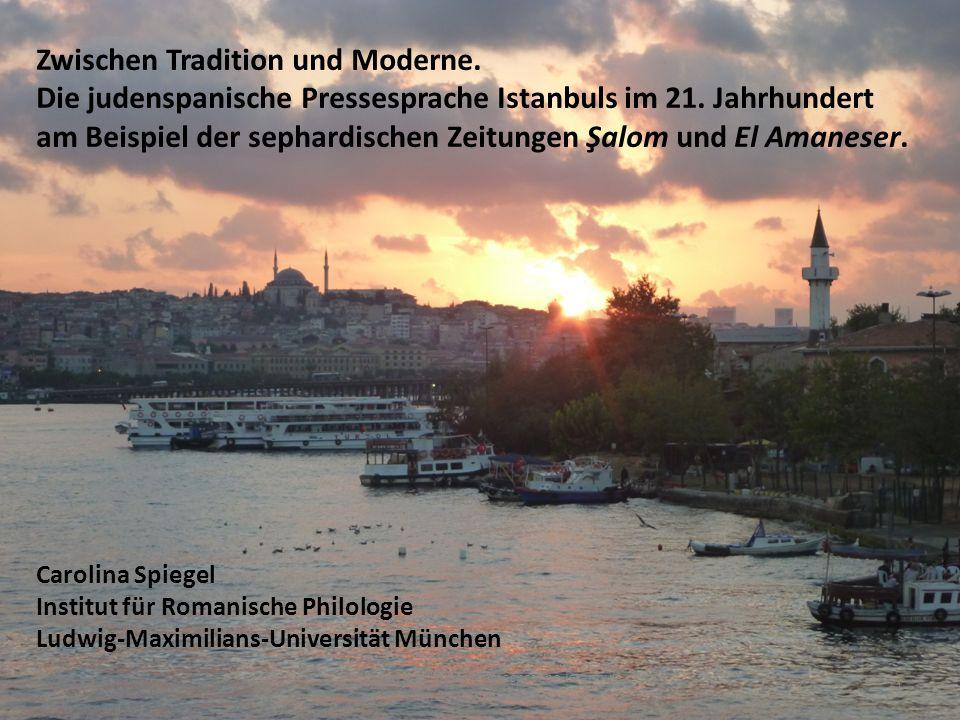 Die judenspanische Pressesprache Istanbuls im 21.Jahrhundert.11 1.