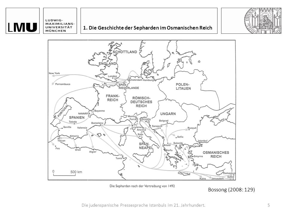 Die judenspanische Pressesprache Istanbuls im 21. Jahrhundert.4 1. Die Geschichte der Sepharden im Osmanischen Reich 1.1. Diaspora als Folge von der V