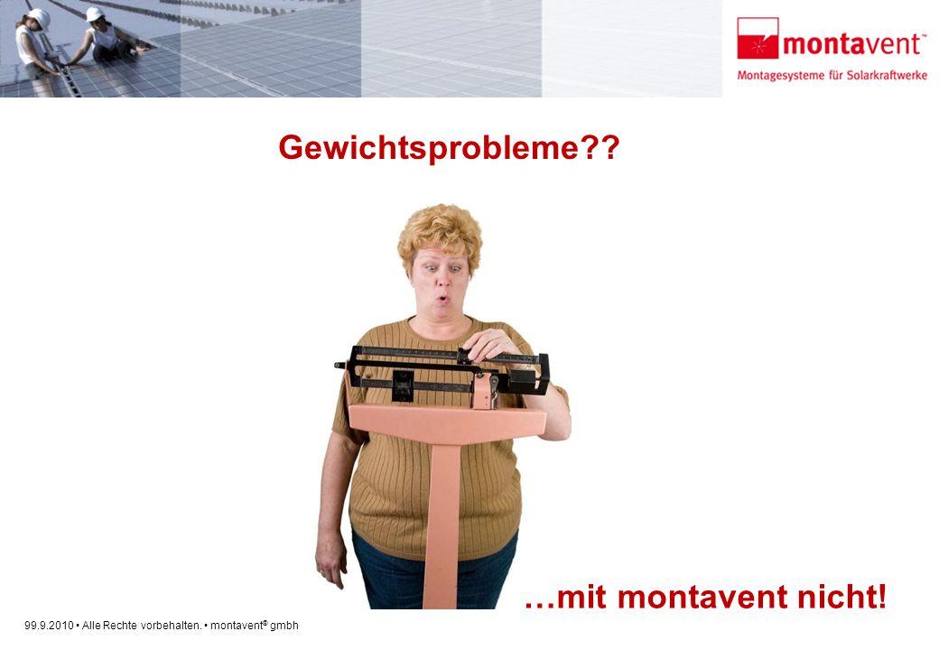 99.9.2010 Alle Rechte vorbehalten. montavent ® gmbh Gewichtsprobleme?? …mit montavent nicht!