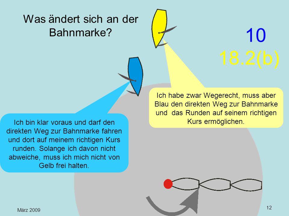 März 2009 Uli Finckh, Breitbrunn12 Was ändert sich an der Bahnmarke? Ich habe zwar Wegerecht, muss aber Blau den direkten Weg zur Bahnmarke und das Ru