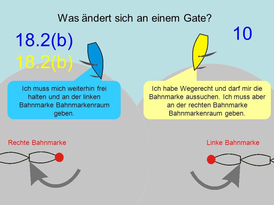 März 2009 Uli Finckh, Breitbrunn8 Was ändert sich an einem Gate? Ich habe Wegerecht und darf mir die Bahnmarke aussuchen. Ich muss aber an der rechten