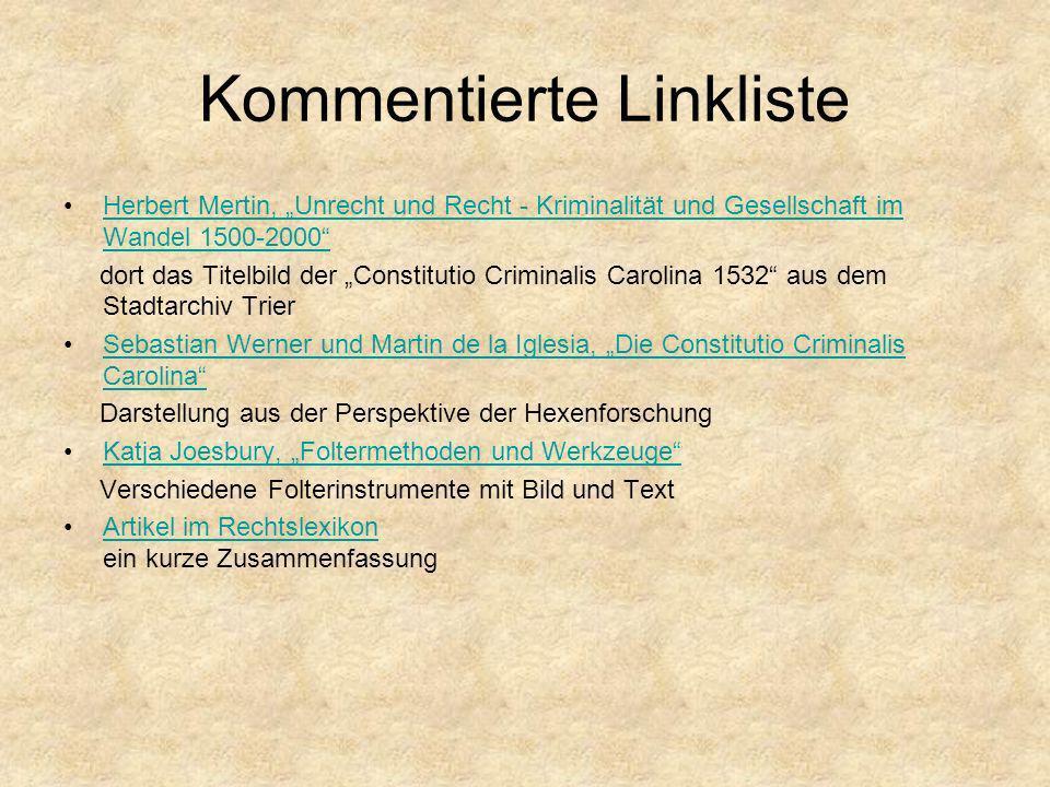 Kommentierte Linkliste Herbert Mertin, Unrecht und Recht - Kriminalität und Gesellschaft im Wandel 1500-2000Herbert Mertin, Unrecht und Recht - Krimin