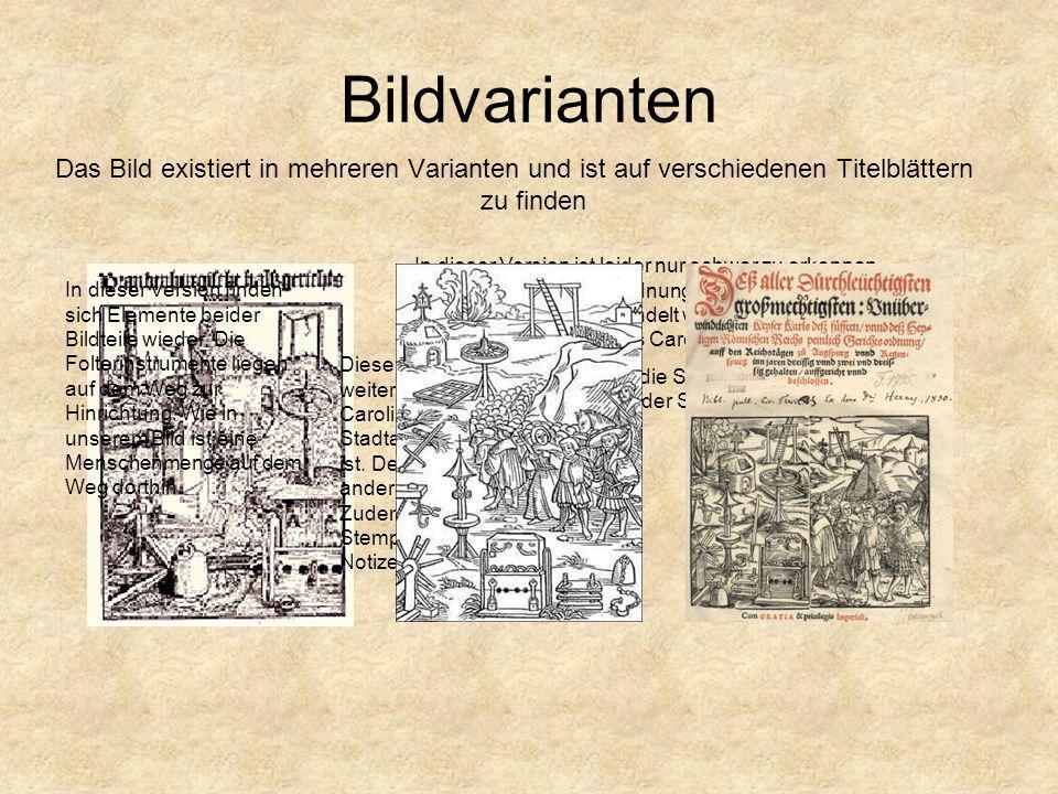 Bildvarianten Das Bild existiert in mehreren Varianten und ist auf verschiedenen Titelblättern zu finden In dieser Version ist leider nur schwer zu er
