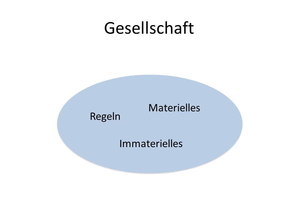 Gesellschaft Regeln Materielles Immaterielles