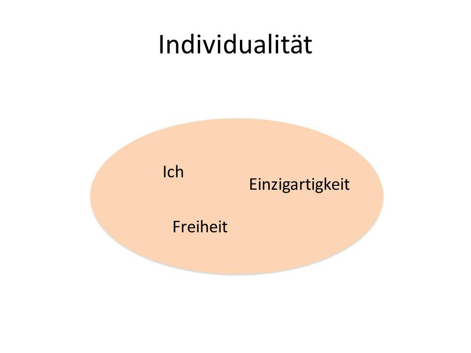 Individualität Ich Freiheit Einzigartigkeit