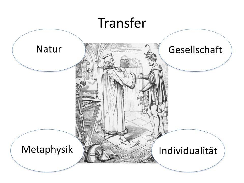 Natur Gesellschaft Metaphysik Individualität