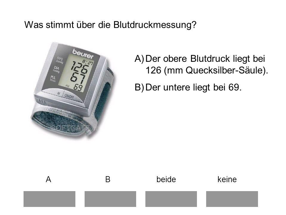Was stimmt über die Blutdruckmessung.