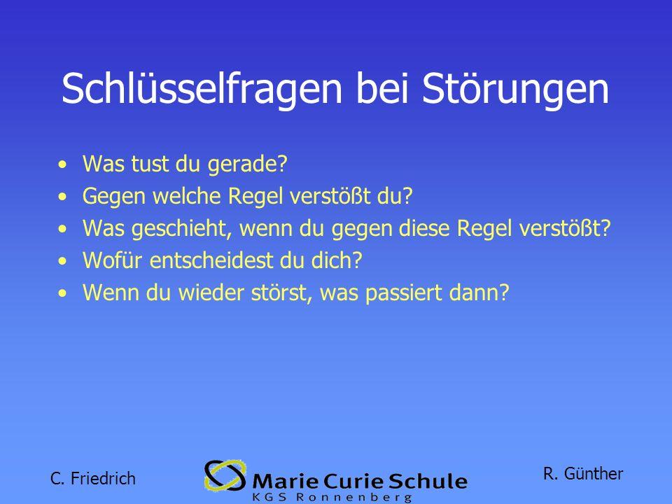 C.Friedrich R. Günther Schlüsselfragen bei Störungen Was tust du gerade.