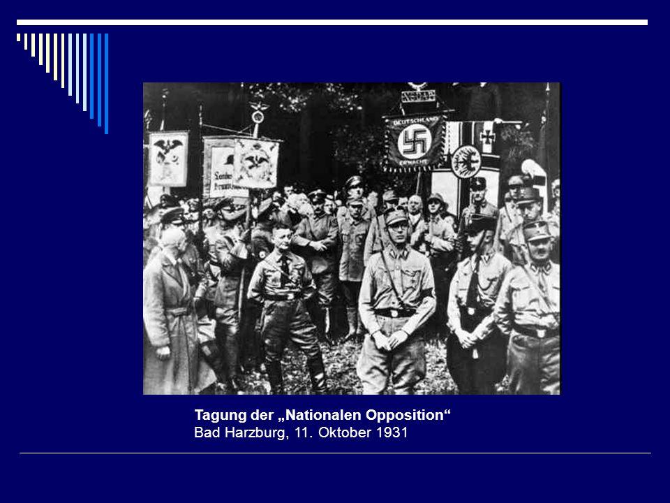 Tagung der Nationalen Opposition Bad Harzburg, 11. Oktober 1931