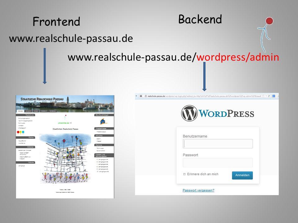 Content-Management-System kurz: CMS deutsch Inhaltsverwaltungssystem Anmeldung: Wordpress Benutzername Passwort www.realschulepassau.de/wordpress/admin