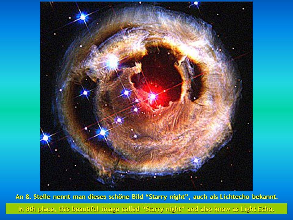 http://wissenschaft3000.wordpress.com/ An siebenter Position finden wir einen Teil des Schwanennebels 5,500 Lichtjahre, beschrieben als ein wasserstof