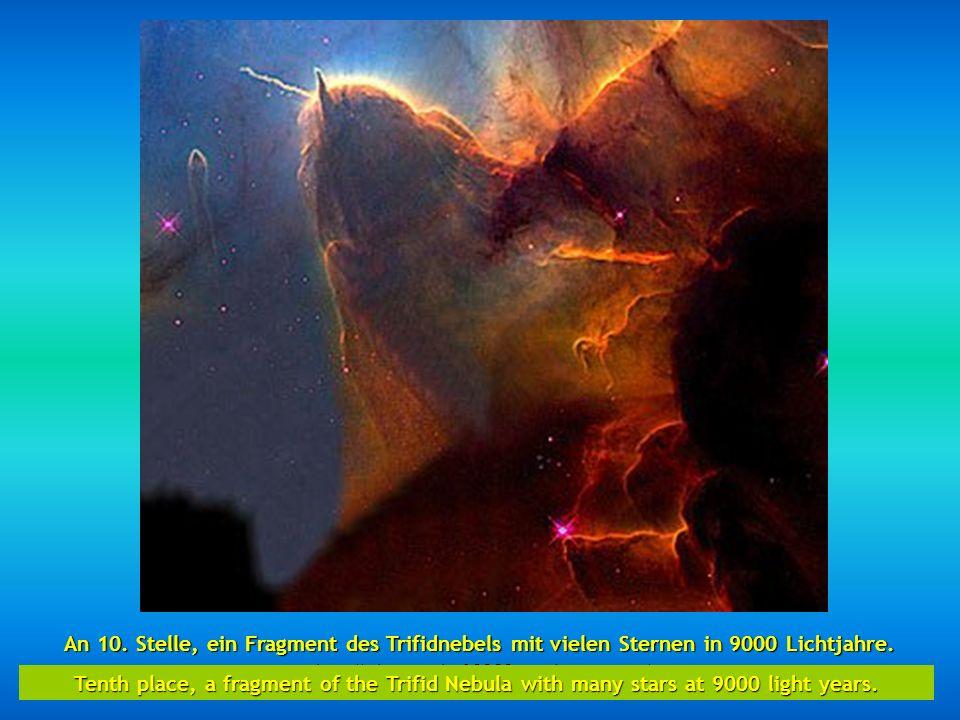 http://wissenschaft3000.wordpress.com/ An 9. Stelle, zwei verschmelzende Galaxien NGC 2207 und IC 2163 sie wurden bei 114 millionen Lichtjahre lokalis