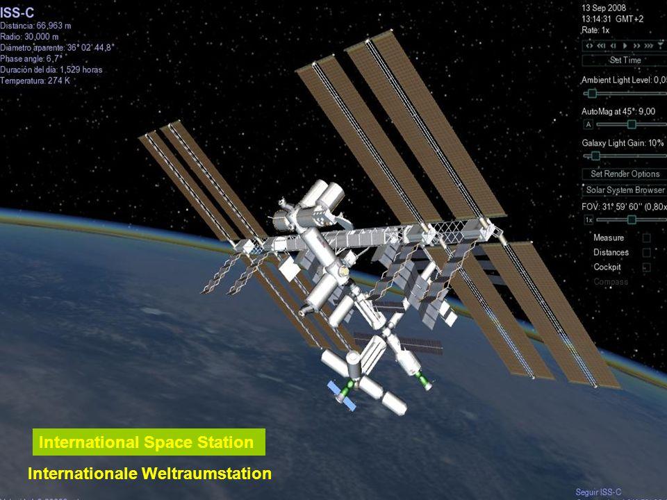 Das Hubble Teleskop befindet sich ausserhalb unserer Atmosphäre und umkreist die Erde 593 km über den Meeresspiegel in einer Erdumlaufzeit von ca. 96