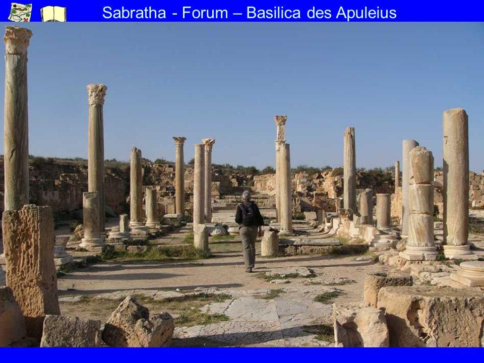 Sabratha - Forum – Basilica des Apuleius