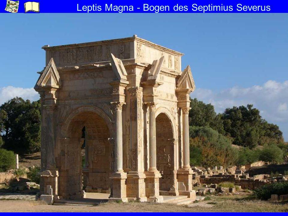 Leptis Magna - Bogen des Septimius Severus
