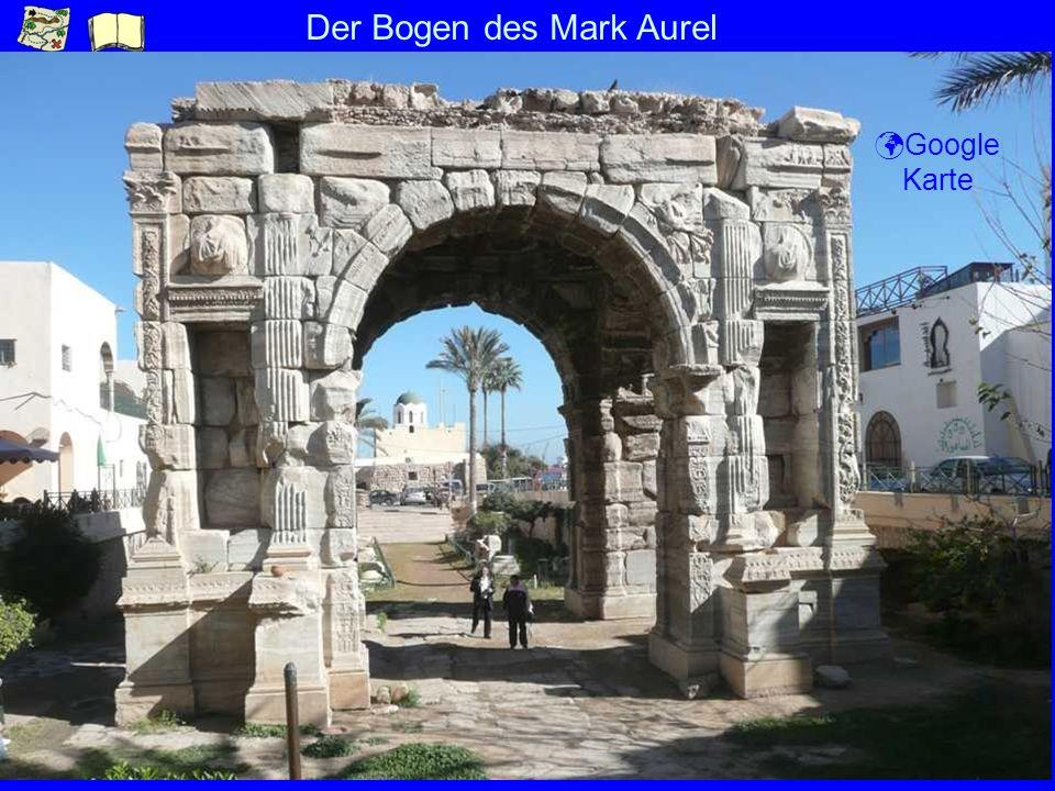 Der Bogen des Mark Aurel Google Karte