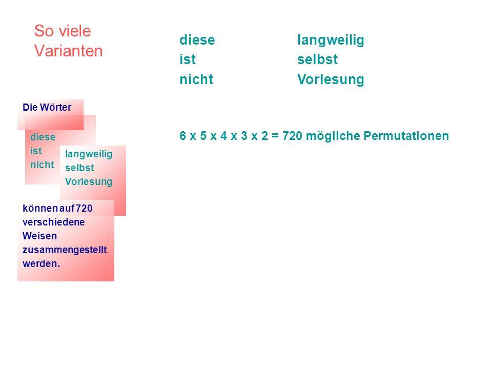 Stellungstypen im Deutschen Bezug nehmend auf die in der Einleitung zu diesem Vortrag vorgeführten Variationsmöglichkeiten bei der Zusammenordnung von (syntaktischen) Wörtern zu Sätzen lässt sich konstatieren: Topologie