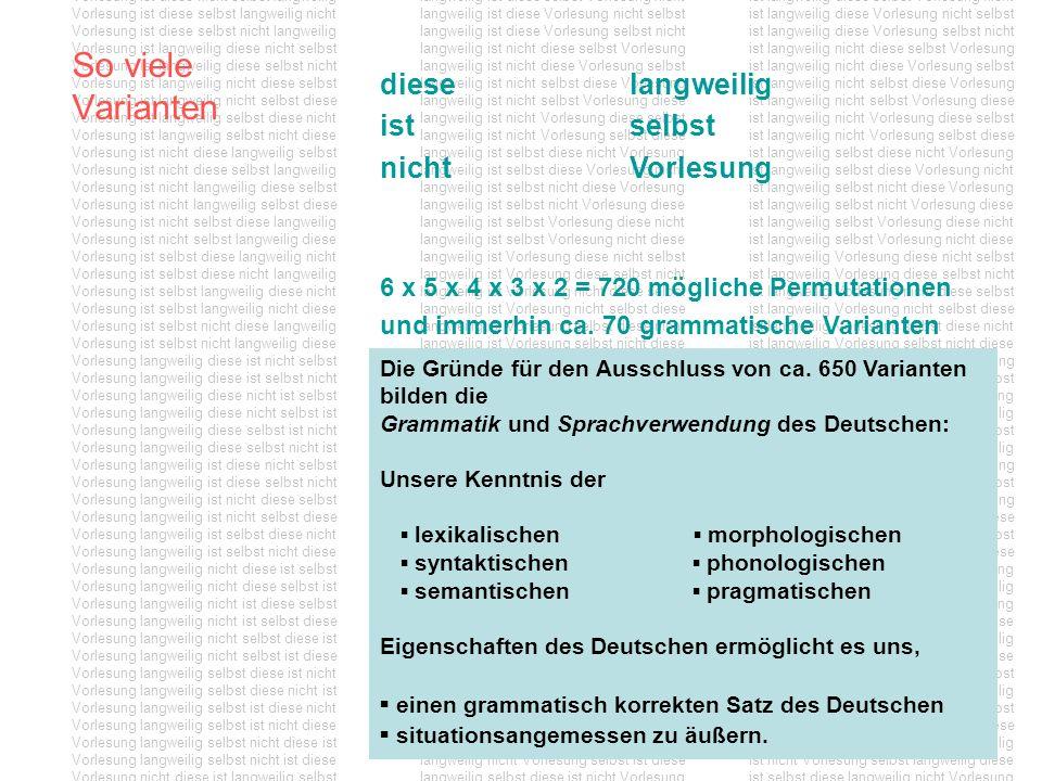 Stellungstypen im Deutschen Kennzeichnend für die Wortstellung im deutschen Satz ist die sogenannte Verbalklammer: Der finite Verbteil nimmt im (nicht-abhängigen) Deklarativ-Satz die zweite Position im Satz ein, während infinite Verbteile wie z.B.
