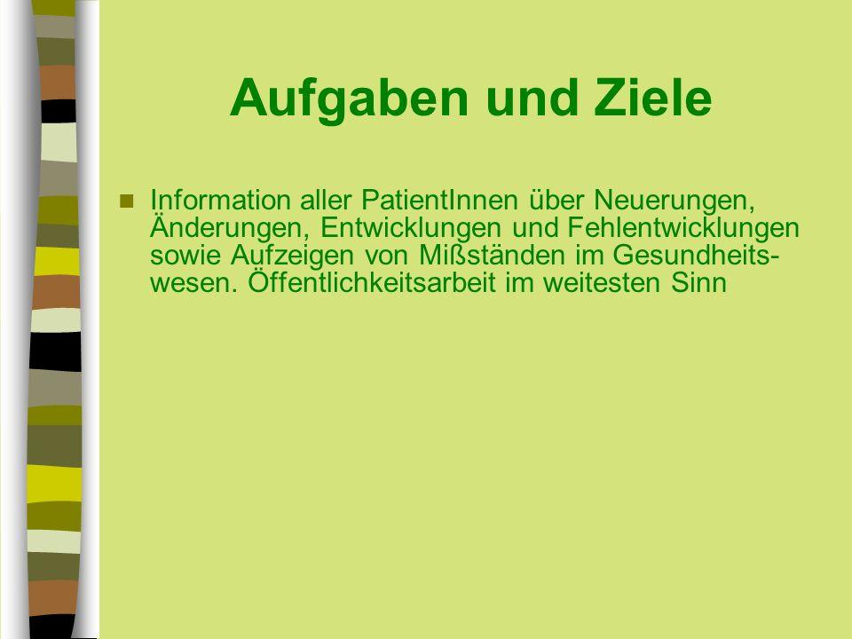 Erreichtes: Am Anfang des Jahres 2005, erreichten wir im totalen Chaos der Chefarztpflicht Neu, daß sich in Wien alle Beteiligten darauf einigten, wieder zum alten System zurück zu kehren.
