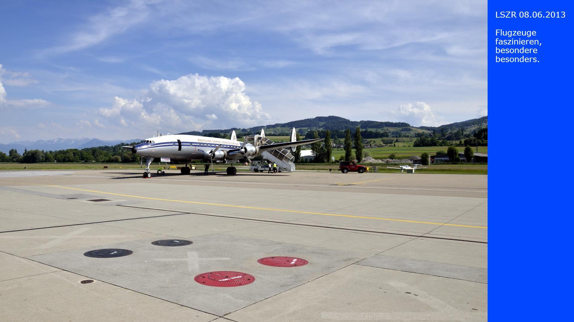 LSZR 08.06.2013 Die Startvorbe- reitungen zum Rückflug nach Basel sind in vollem Gange.