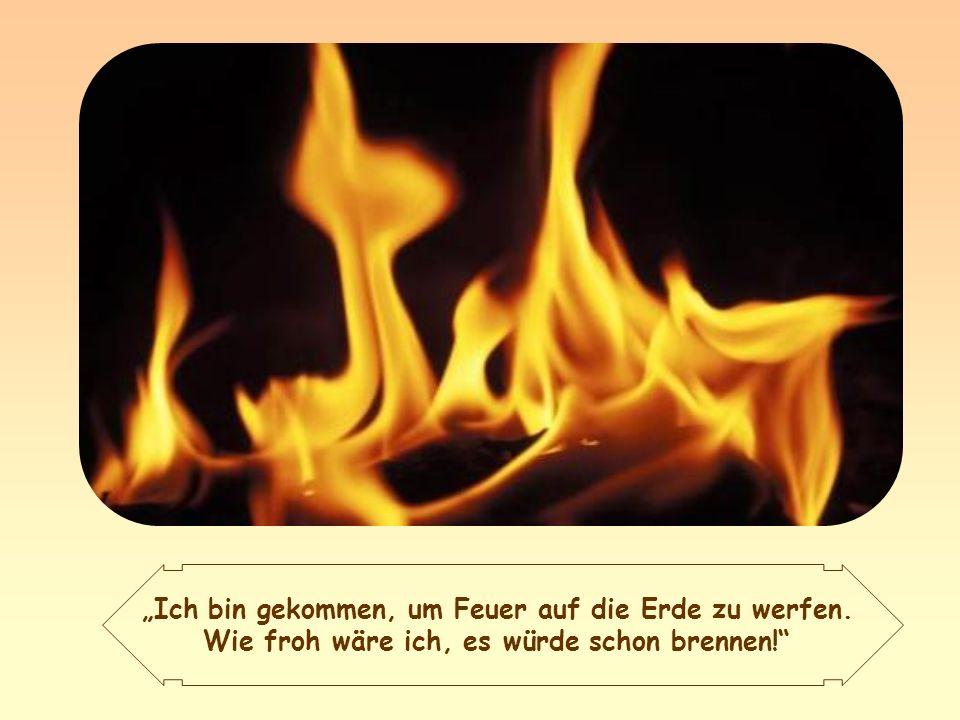 Dies also ist die Sendung Jesu: Feuer auf die Erde zu werfen, das heißt, den Heiligen Geist mit seiner erneuernden und reinigenden Kraft zu bringen.