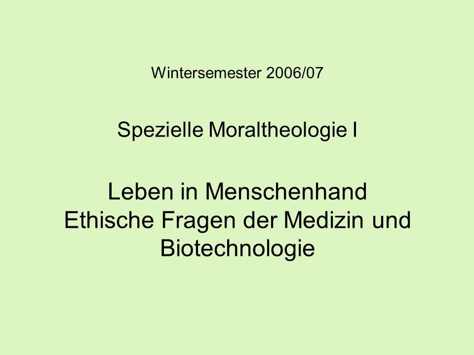 1.2.4 Die Position der Kirchen -Die Deutschen Bischöfe, Der Mensch sein eigener Schöpfer.