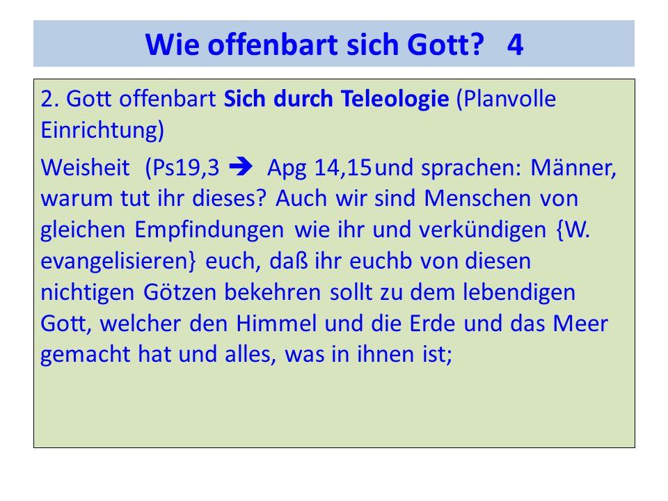 Wie offenbart sich Gott.4 2.